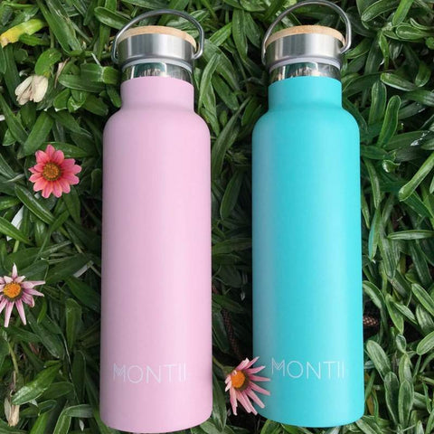 MontiiCo Insulated Drink Bottles in Pink & Blue as sold by Scarlett Tippy Toes