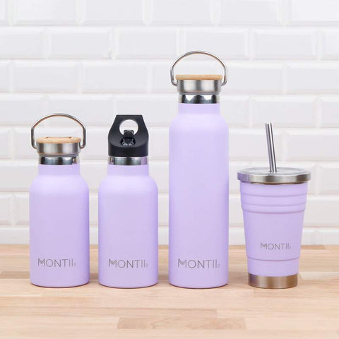 MontiiCo Lavender Insulated Drink Bottle Collection as sold by Scarlett Tippy Toes