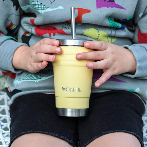 MontiiCo Insulated Mini Smoothie Cup in Honeysuckle Yellow as sold by Scarlett Tippy Toes