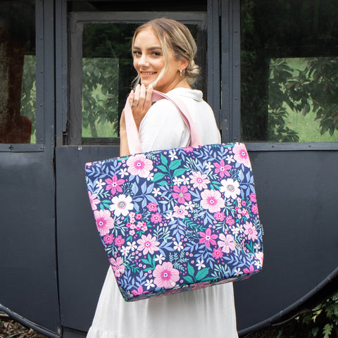 MontiiCo Insulated Lunch Bag in Wildflowers Print