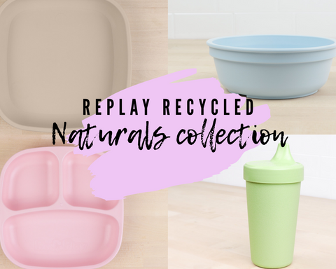 Replay Recycled Naturals Collection in Sand, Leaf, Ice Blue & Ice Pink