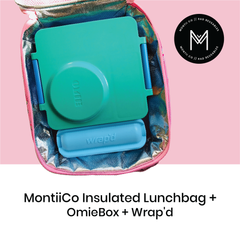 MontiiCo Insulated Lunch Bag with OmieBox and Wrap'd as sold by Scarlett Tippy Toes