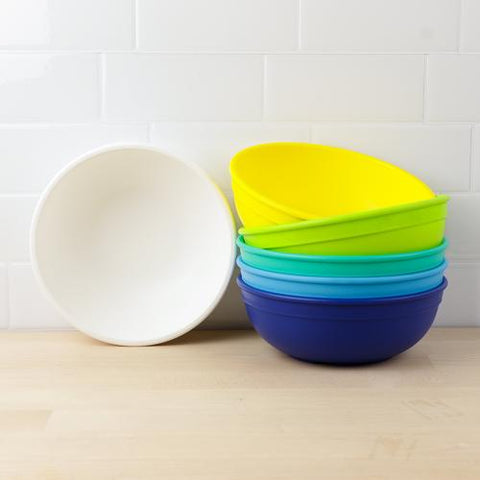 Re-Play Recycled Large Adult Plastic Bowls in a Variety of Colours as sold by Scarlett Tippy Toes