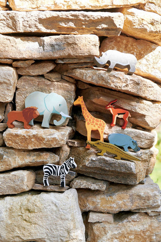 Tender Leaf Wooden Safari Animals as sold by Scarlett Tippy Toes