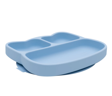 We Might be Tiny Baby Blue Suction Divided Plate as sold by Scarlett Tippy Toes