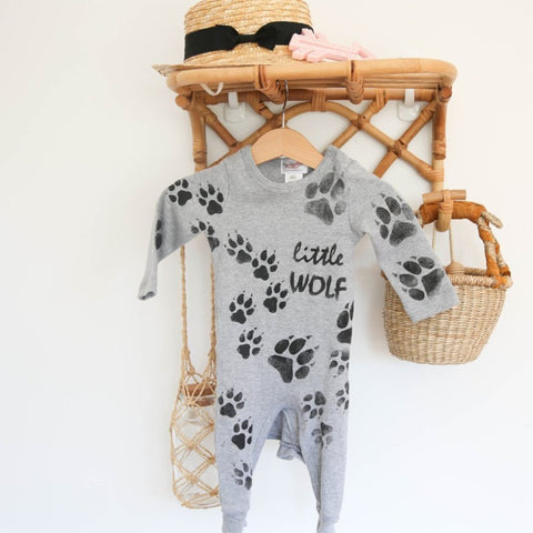 Wolf Pup Onesie by My Lily-Ann sol by Scarlett Tippy Toes