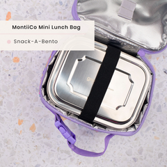 Snack a Pack Stainless Steel Lunchbox and MontiiCo Insulated Lunch Bag