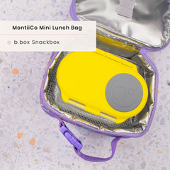 B,box Snack Box and MontiiCo Insulated Lunchbag