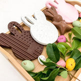 One.Chew.Three Easter Chocolate Bunny Silicone Teether (Limited Edition)