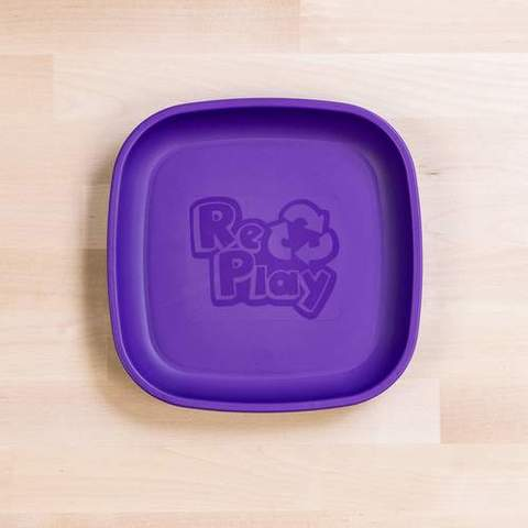 Re-Play Recycled Plastic Flat Plate in Amethyst (Dark Purple) - 18cm (Original Size)