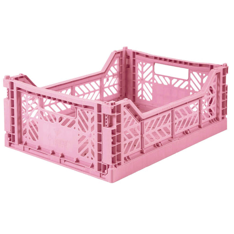 Ay-Kasa Lilliemor Midi Foldable Crate in Baby Pink (Medium Size)
