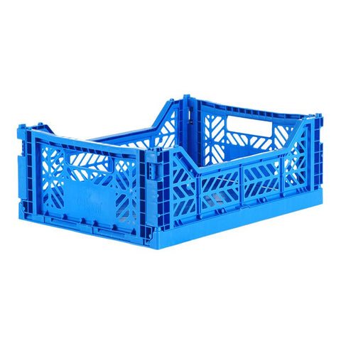 Ay-Kasa Lilliemor Midi Foldable Crate in Electric Blue (Medium Size)