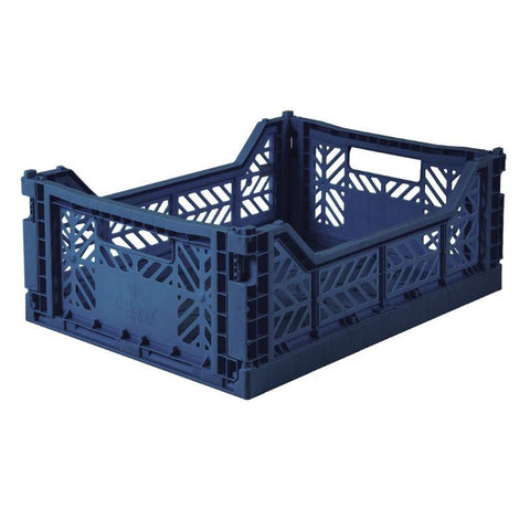 Ay-Kasa Lilliemor Midi Foldable Crate in Dark Navy (Medium Size)