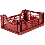 Ay-Kasa Lilliemor Midi Foldable Crate in Tile Red (Medium Size)