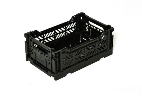 Ay-Kasa Lilliemor Mini Foldable Crate in Black (Small Size)