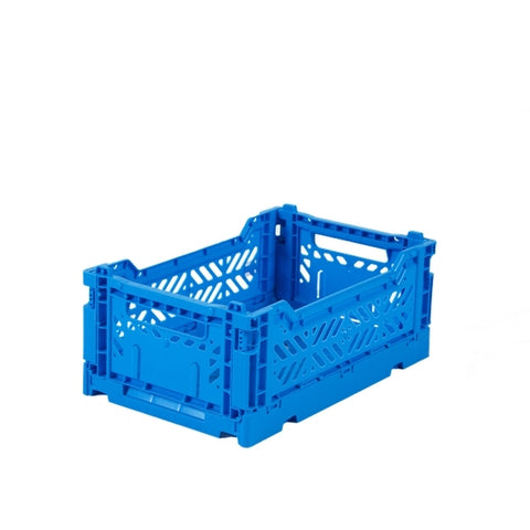 Ay-Kasa Lilliemor Mini Foldable Crate in Electric Blue (Small Size)