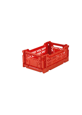 Ay-Kasa Lilliemor Mini Foldable Crate in Red (Small Size)