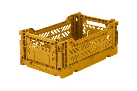Ay-Kasa Lilliemor Mini Foldable Crate in Mustard (Small Size)