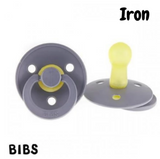 BIBS Dummy Size 2 - Iron (Twin Pack)