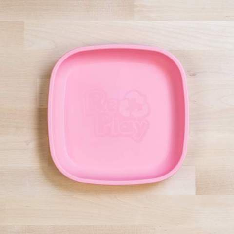 Re-Play Recycled Plastic Flat Plate in Baby Pink - 18cm (Original Size)