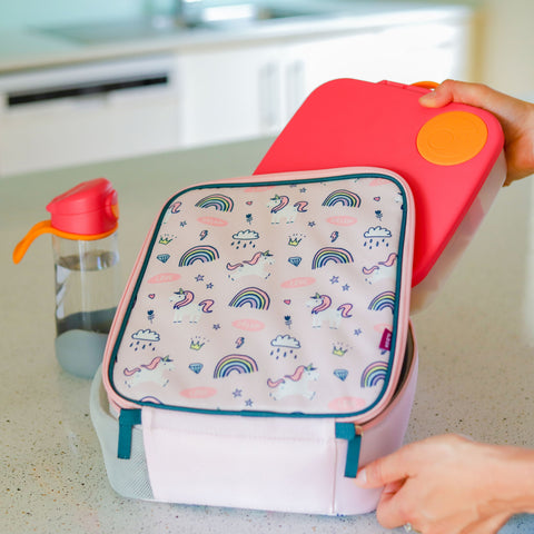 B.box Insulated Lunchbag in Rainbow Magic Design