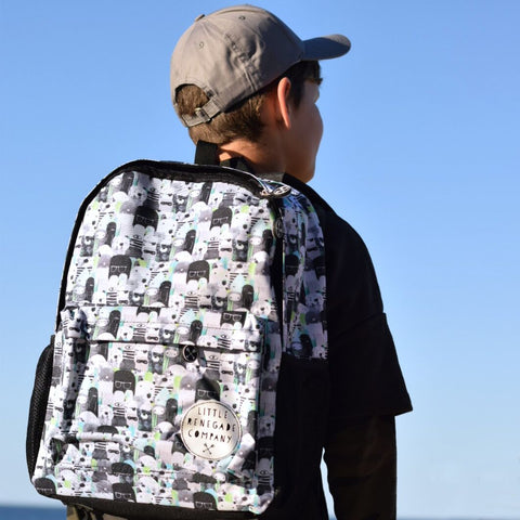 Little Renegade Company Bear & Beasties Backpack in Midi Size (Suitable for Primary School Age)
