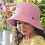 Bedhead Hat Baby Pink Ponytail Junior Bucket UPF50+ Sunhat with Chin Strap (Core Range)