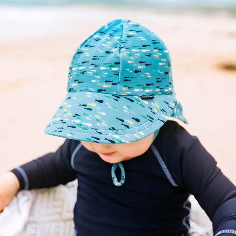 Bedhead Hat Fish Beach Legionnaire UPF50+ Sunhat with Chin Strap