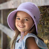 Bedhead Hat Lilac (Light Purple) Ponytail Junior Bucket UPF50+ Sunhat with Chin Strap (Core Range)
