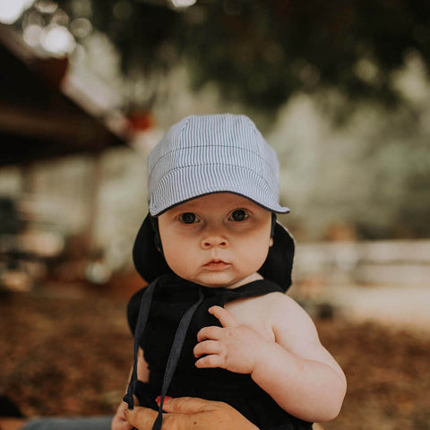 Bedhead Hat Reversible Baby Flap UPF50+ Sunhat - Charlie & Indigo (Heritage Collection)