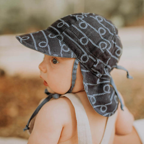 Bedhead Hat Reversible Baby Flap UPF50+ Sunhat - Crew & Steele (Heritage Collection)