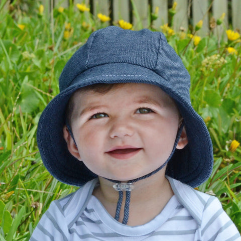 Bedhead Hat Denim Baby Bucket UPF50+ Sunhat with Chin Strap (Core Range)