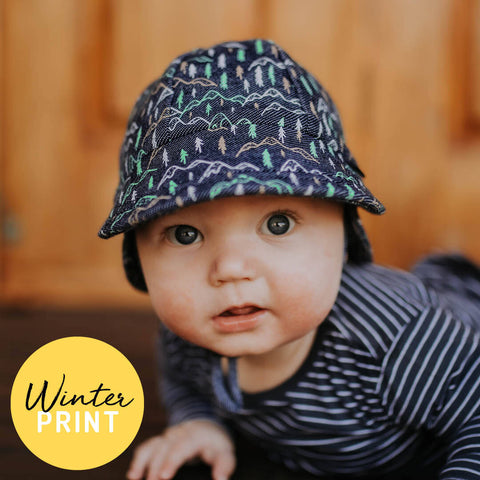 Bedhead Hat Scout Denim Baby Legionnaire UPF50+ Sunhat with Chin Strap (Winter 2020 Range) - Sizes 0-3 Months, 3-6 Months & 6-12 Months