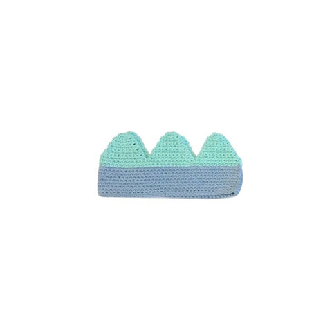 Billy Loves Audrey Blue and Mint Knitted Crown