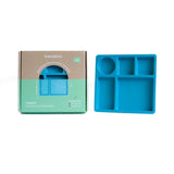 Bobo & Boo Bamboo Divided Plate in Dolphin Blue