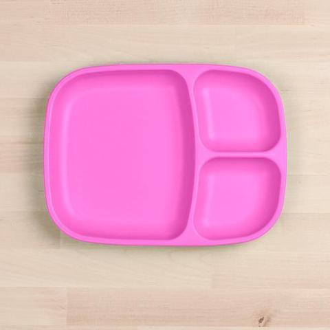 Re-Play Recycled Plastic Divided Plate in Bright Pink - 25cm (Adult Size)