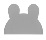 We Might be Tiny Bunny Placie (Silicone Placemat) - Dark Grey