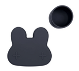 We Might be Tiny Bunny Snackie (Silicone Food Storage) - Charcoal