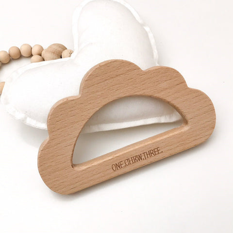One.Chew.Three Beechwood Teethers