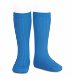 Condor Barcelona Ribbed Knee-High Socks - Electric Blue  (447)