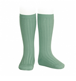 Condor Barcelona Ribbed Knee-High Socks - Jade Green (704)