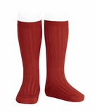 Condor Barcelona Ribbed Knee-High Socks - Ruby Red  (585)
