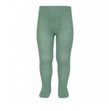 Condor Barcelona Ribbed Tights - Jade Green (704)