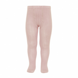 Condor Barcelona Ribbed Tights - Vintage Rose Pink (544)