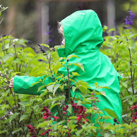 French Soda Green Raincoat