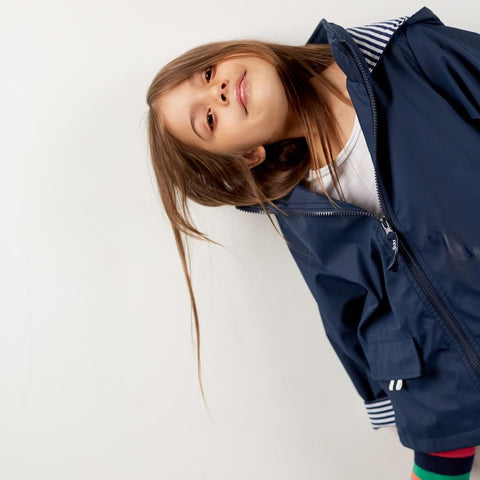 French Soda Navy Raincoat