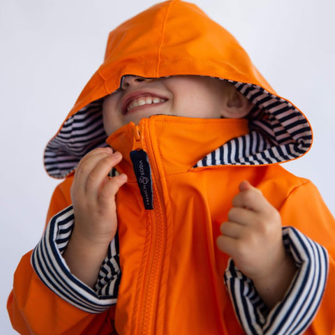 French Soda Orange Raincoat