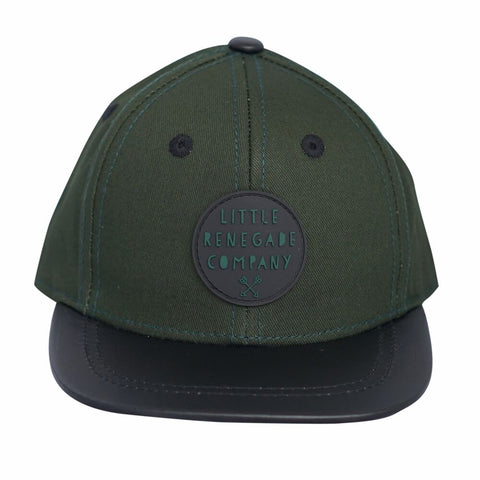 Little Renegade Company Forest Knight Dark Green & Black Snapback Cap (Suitable from 4 months old)