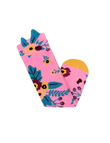 Billy Loves Audrey Garden Pink Socks - Available in Size 2-4 Years
