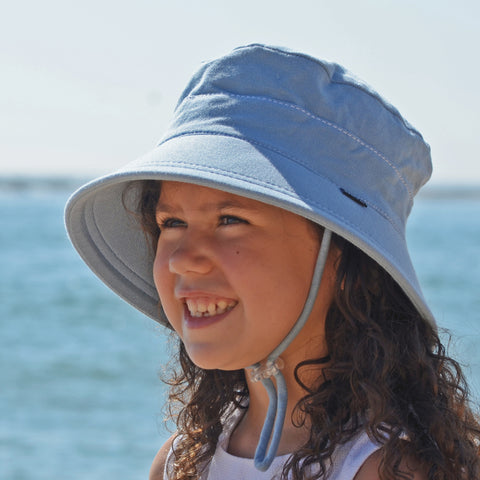 Bedhead Hat Chambray Junior Bucket UPF50+ Sunhat with Chin Strap (Core Range)